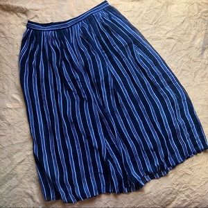 Banana Republic Striped Midi Skirt